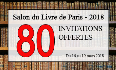 Invitations Salon du Livre Paris 2018